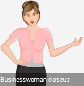 lady 2D avatar close