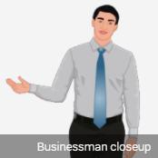 2d male avatar close standing