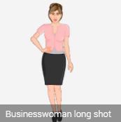 female 2 D avatar tall