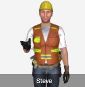 2 D male construction worker
