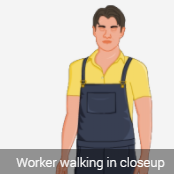 male 2 D avatar in coverall