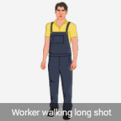 2 D male standing