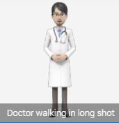 standing avatar doctor