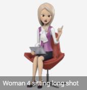 female avatar sitting blond